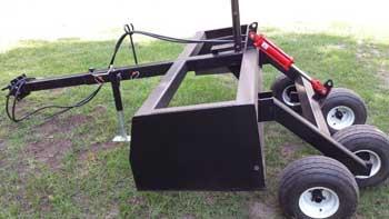 Tandem Axle Hydraulic Box Blade by JPS Fabrications LLC